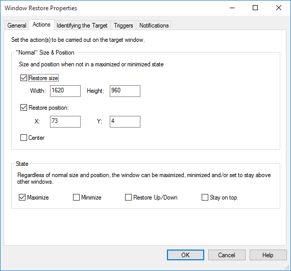Resize and reposition windows automatically